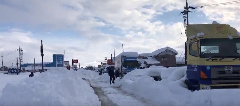 تساقط الثلوج فى اليابان