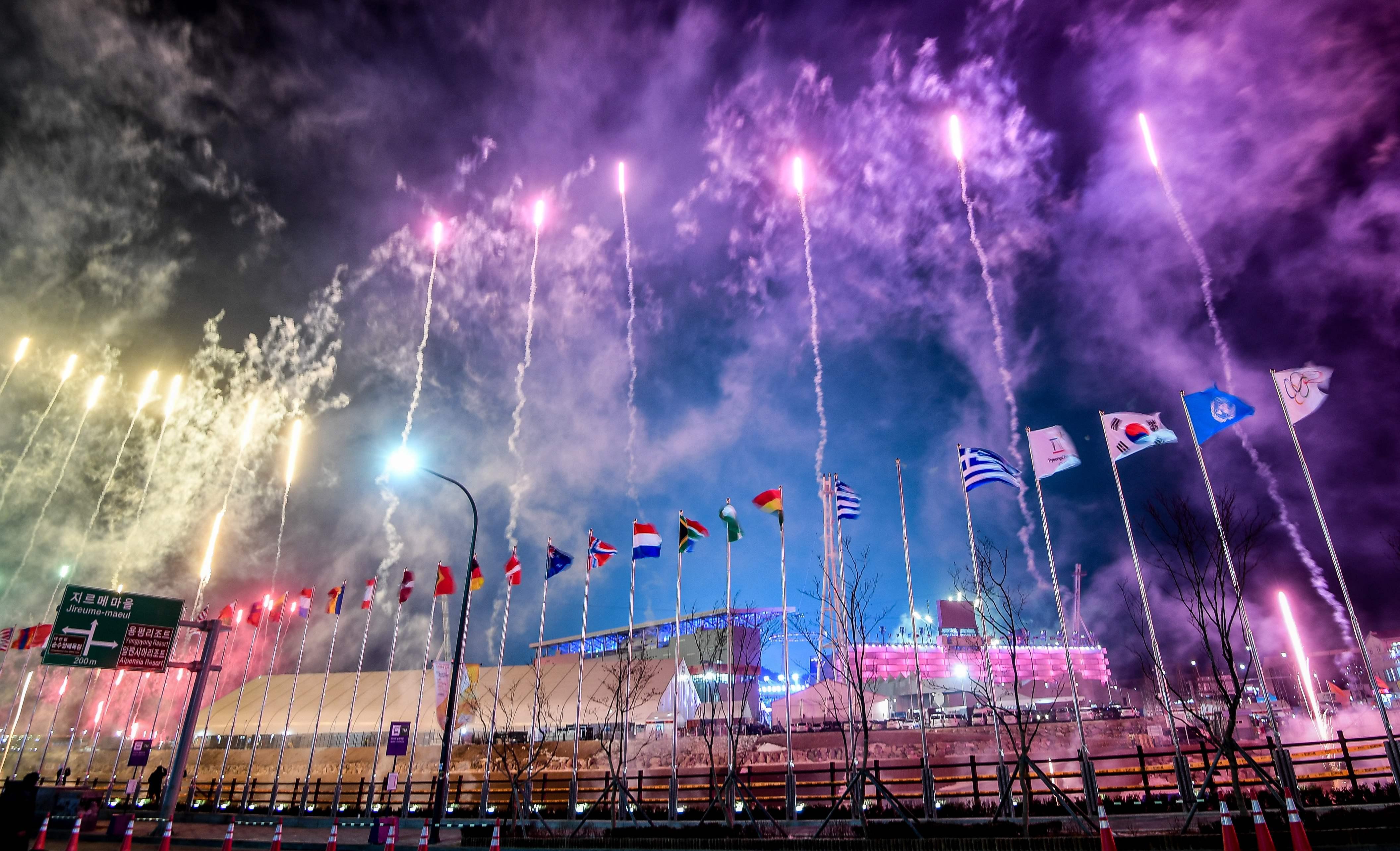 افتتاح الأولمبياد فى كوريا الجنوبية