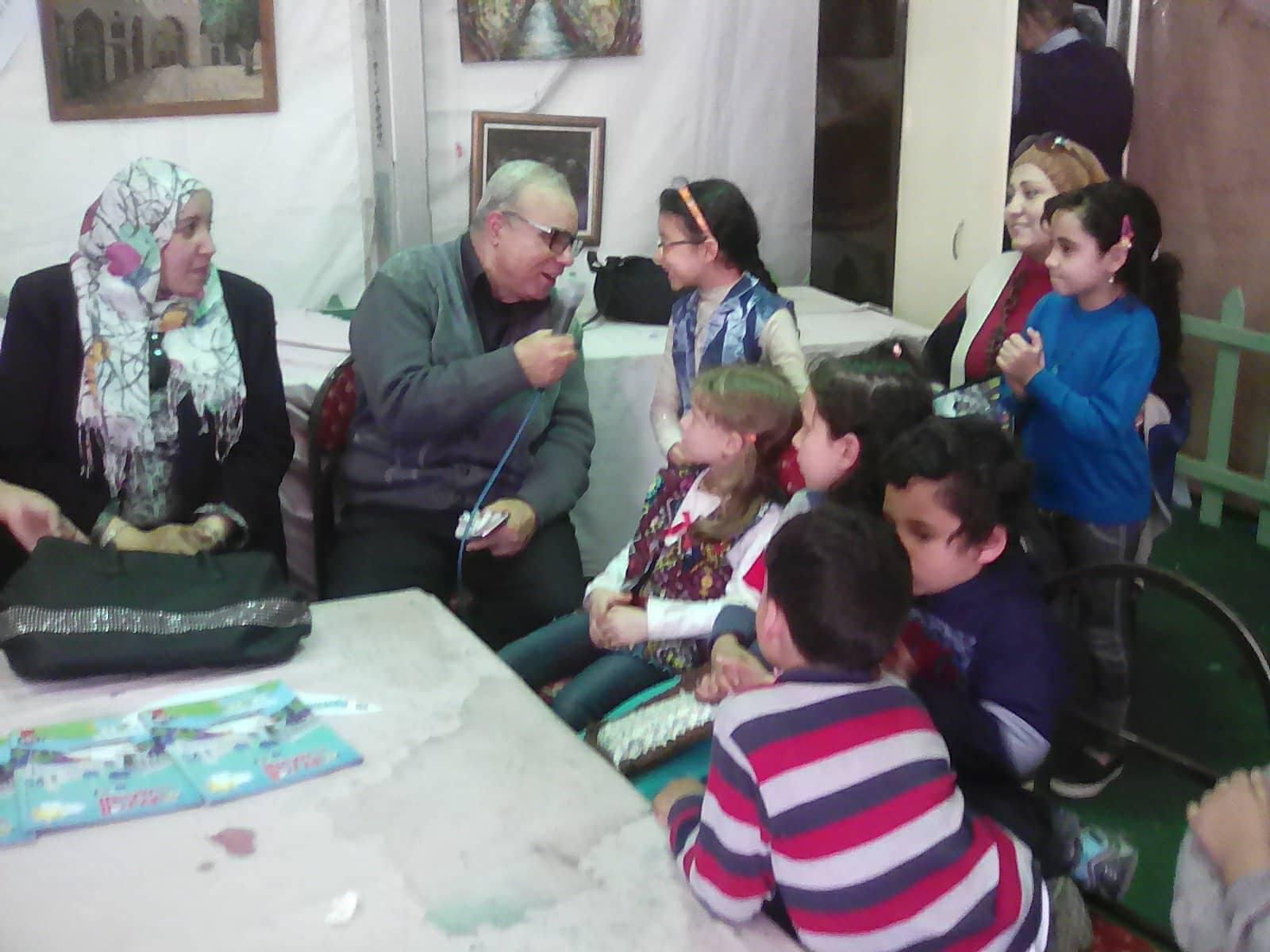 فعاليات مخيم طفل قصور الثقافة بمعرض الكتاب   (4)