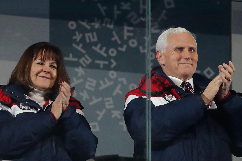 نائب الرئيس الأمريكى يحضر الأولمبياد