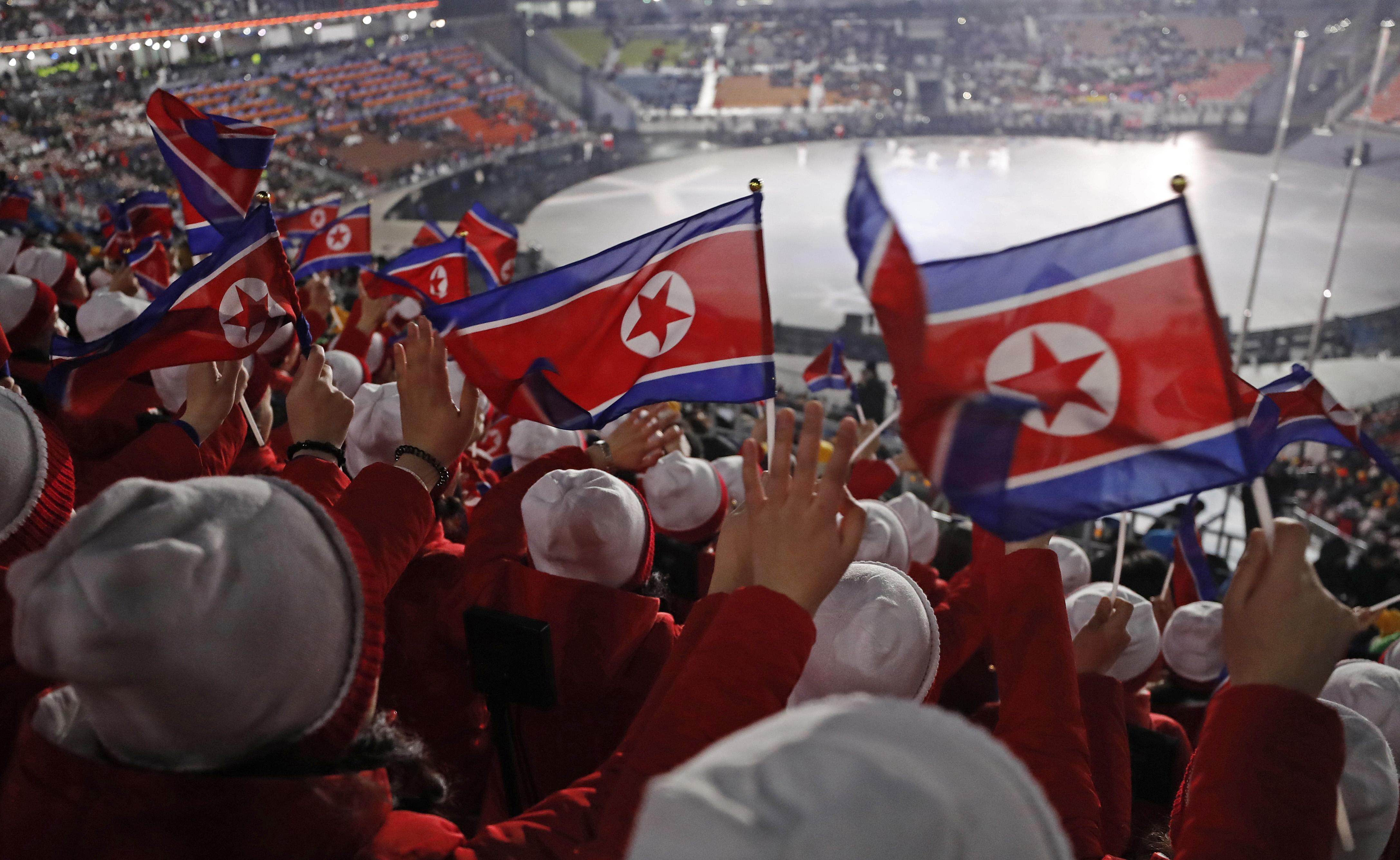 علم بيونج يانج يرفرف على أرض كوريا الجنوبية