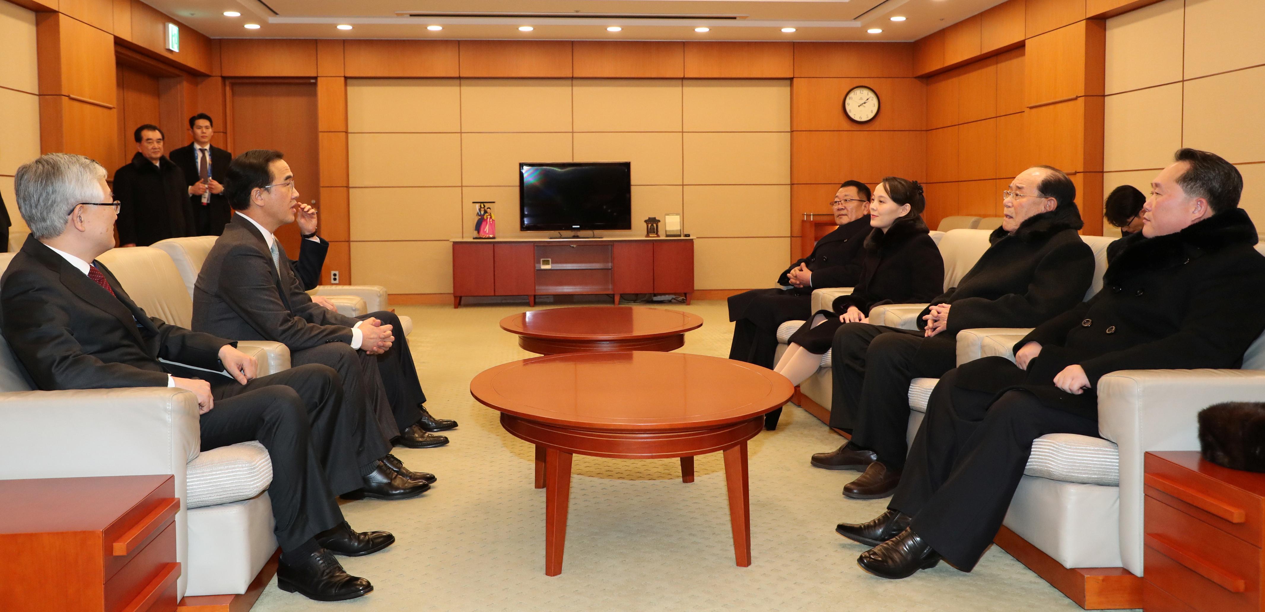 اجتماع الوفد الكورى الشمالى