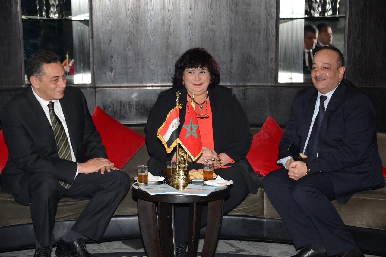 سفير مصر بالمغرب وايناس عبد الدامي