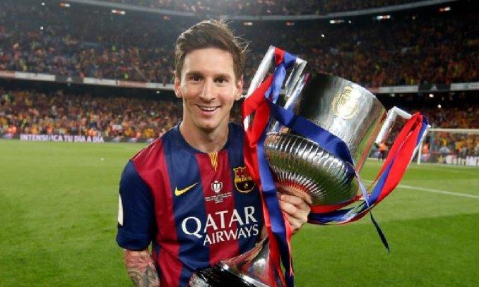 ميسى يحمل كأس ملك إسبانيا