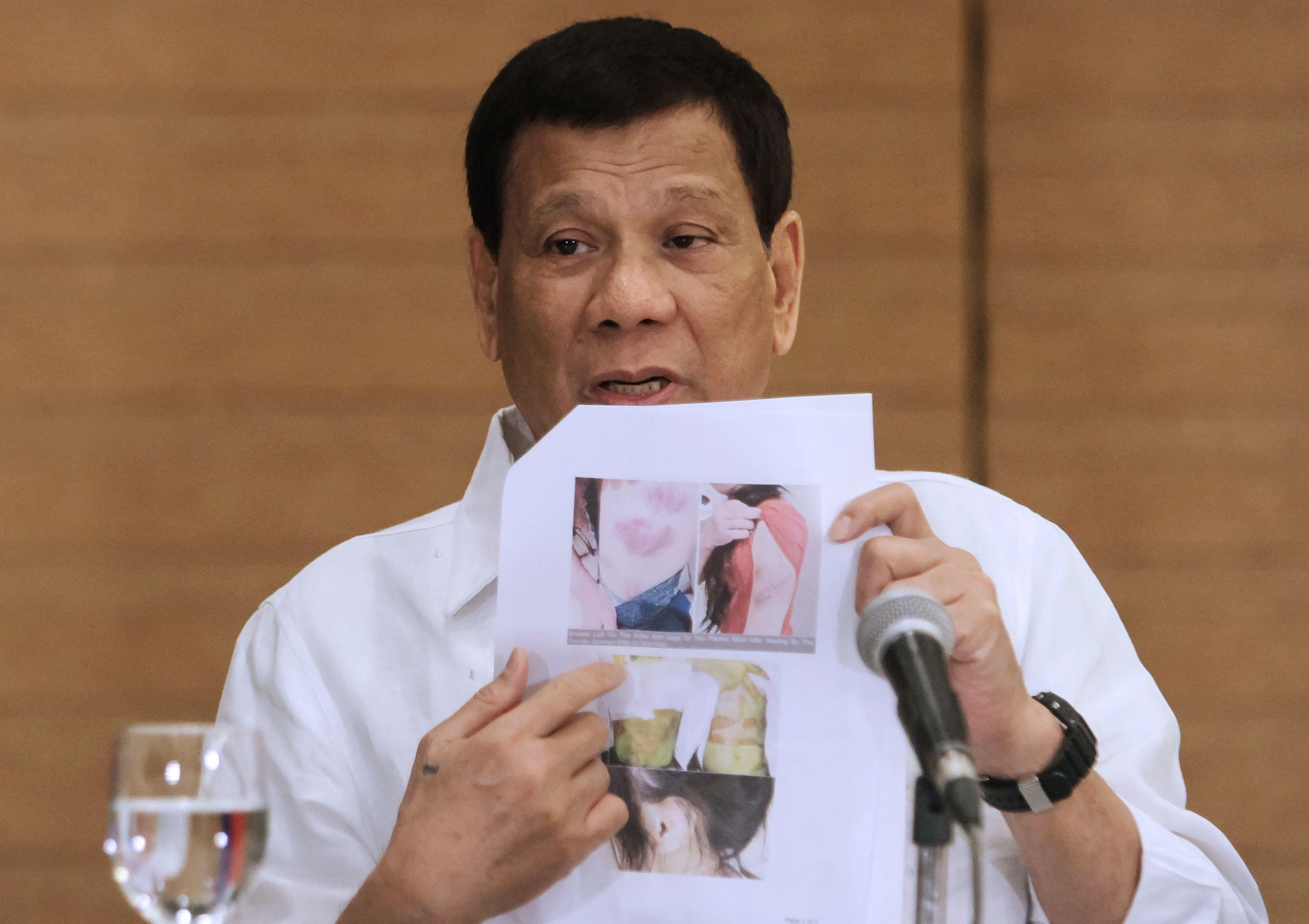 جانب من حديث الرئيس الفلبينى