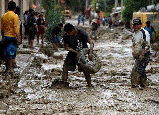 جانب من فيضانات فى بوليفيا