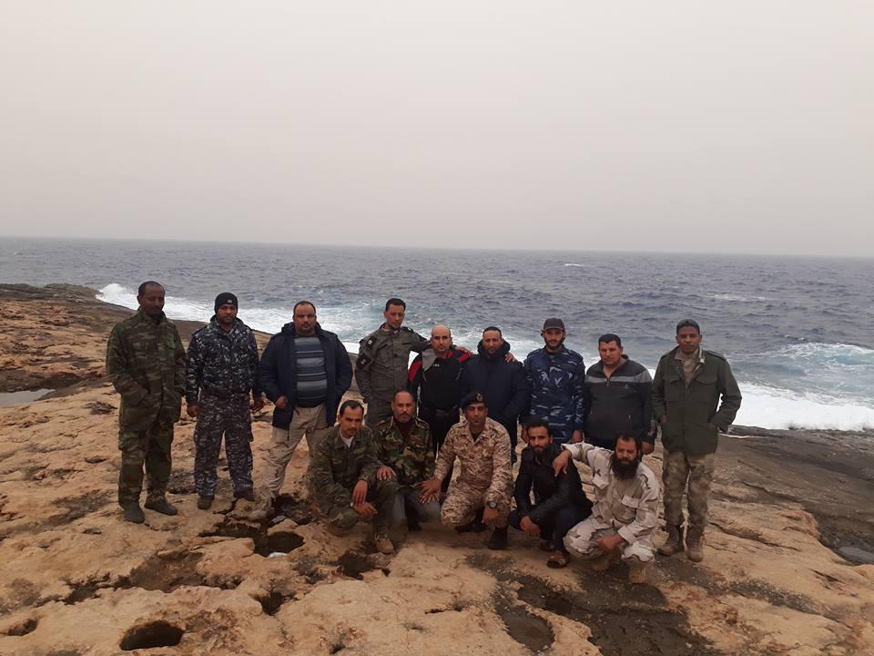 4- فرق البحث والقوات الليبية بطبرق