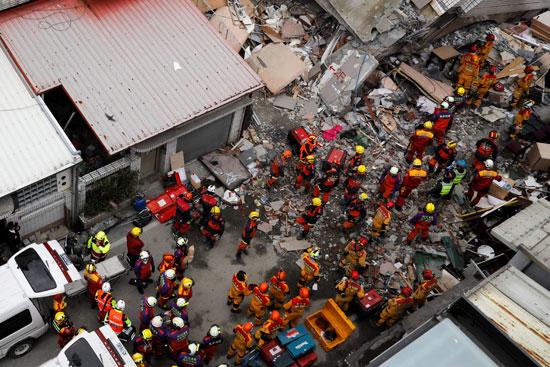 استمرار عمليات الإنقاذ فى تايوان بسبب الزلزال المدمر