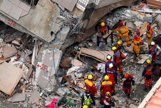 استمرار عمليات الإنقاذ فى تايوان