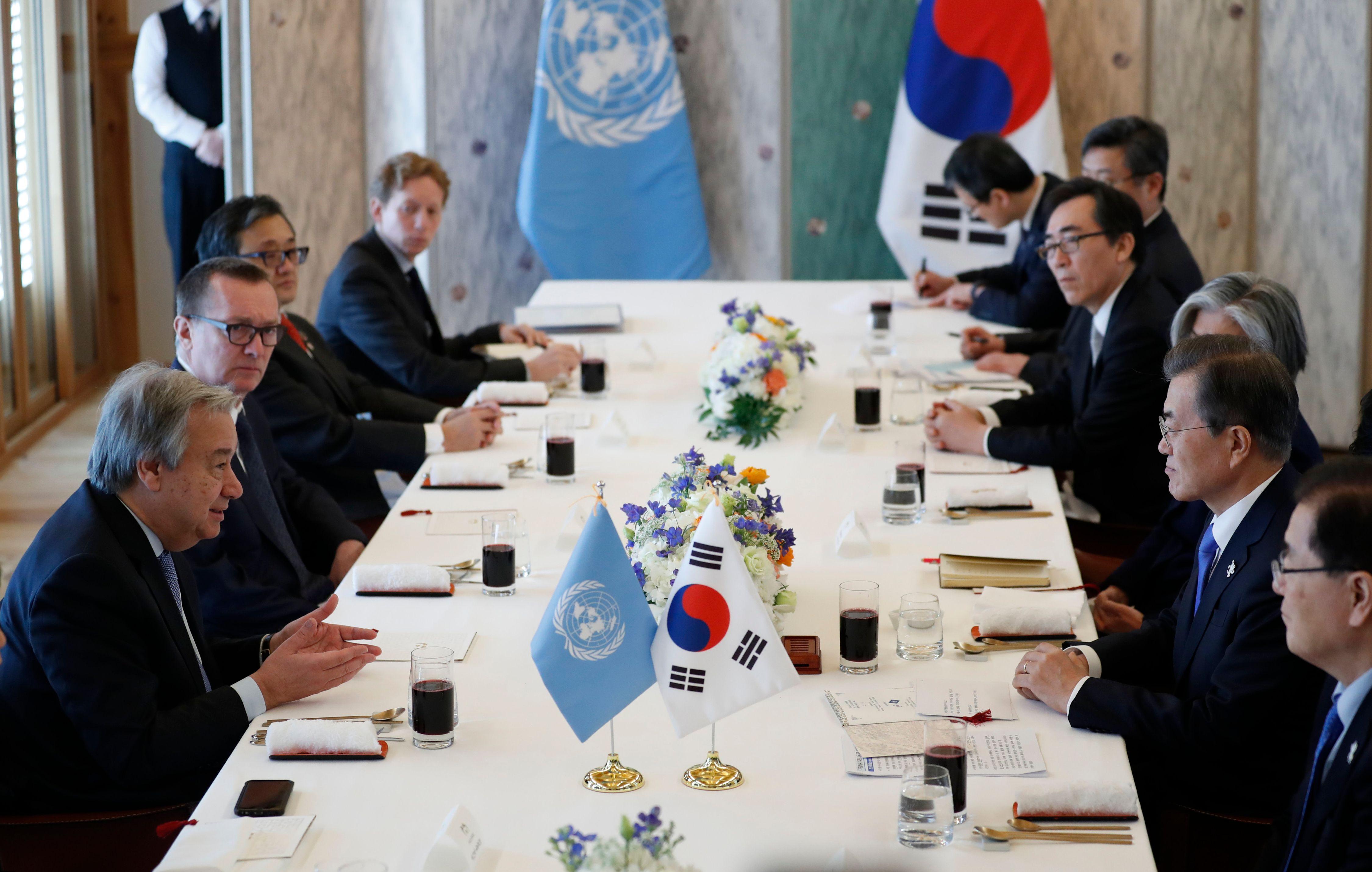 مباحثات بين رئيس كوريا الجنوبية وجوتيرس