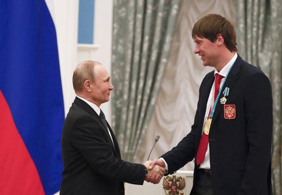بوتين خلال الحفل