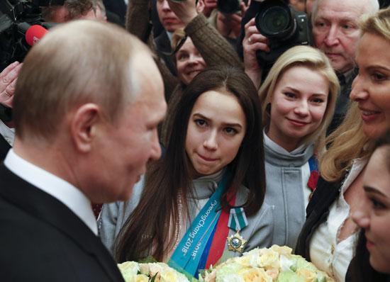 الرئيس الروسى مع الرياضيات