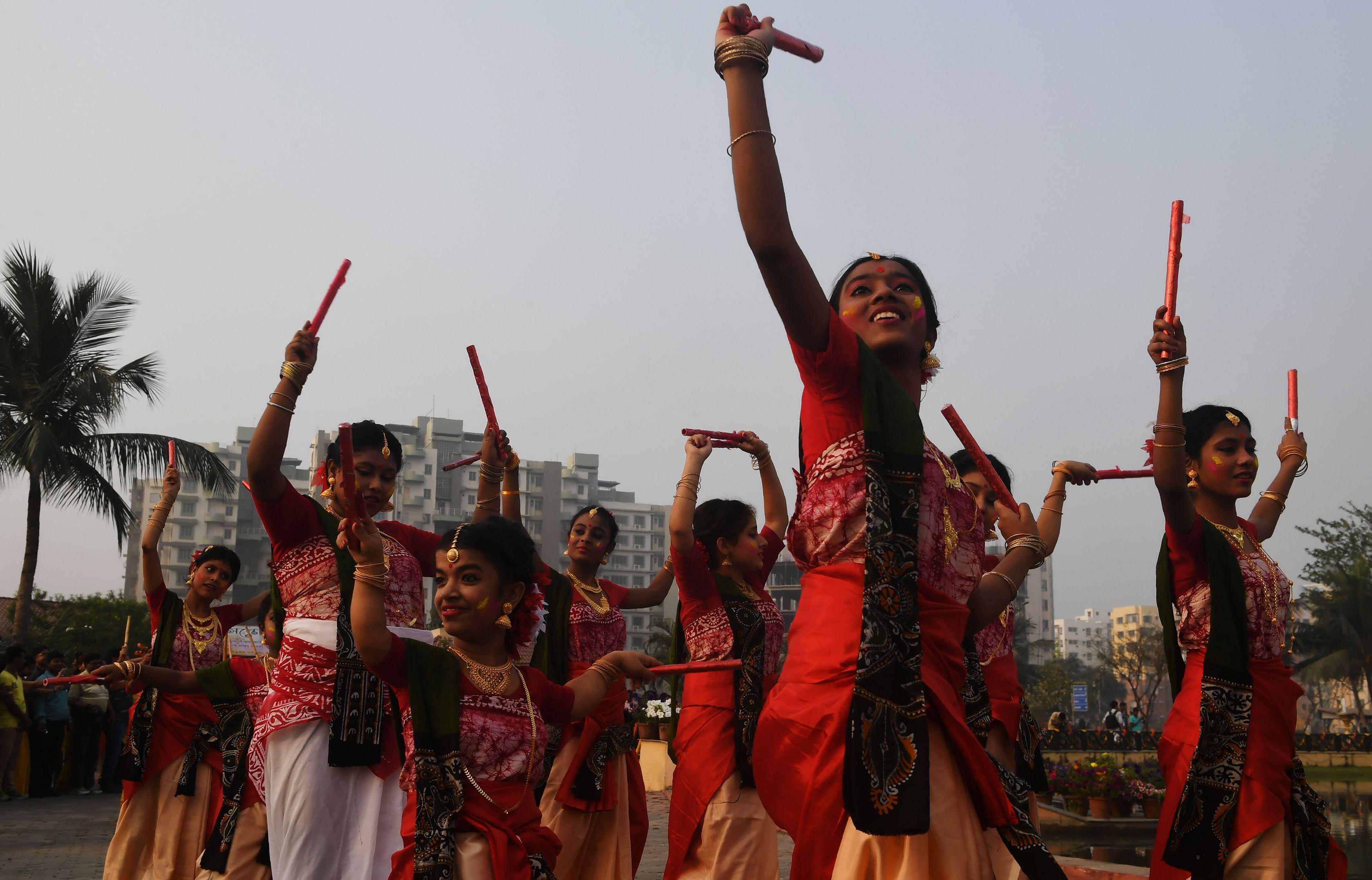 رقصات شعبية هندية