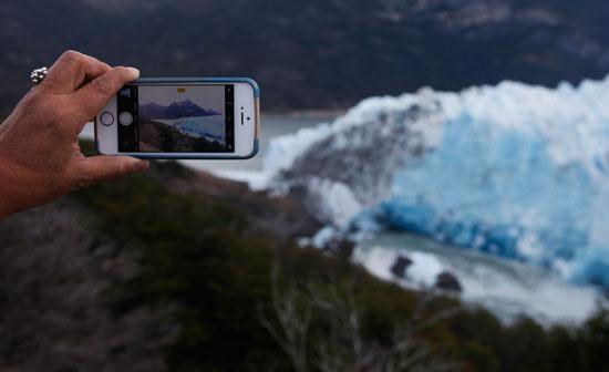 التقاط لحظة تذكارية لكتلة الجليد