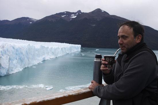 لقطة تذكارية مع الجليد