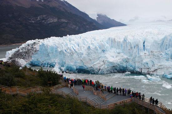 كتل ضخمة من الجليد فى الارجنتين