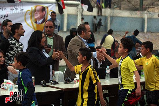 فعاليات دورة كأس الرئيس عبد الفتاح السيسى بمركز شباب منشية ناصر (7)