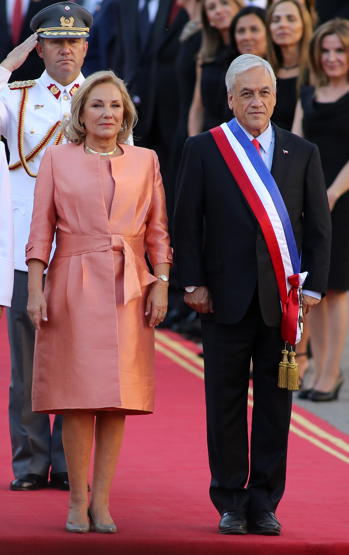 الرئيس الشيلي الجديد سيباستيان بينيرا وزوجته