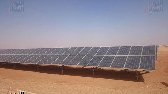 """اول صور من محطة """"انفينيتى"""" بعد توليد 50 ميجا وات من الطاقة الشمسية بمحافظة اسوان"""
