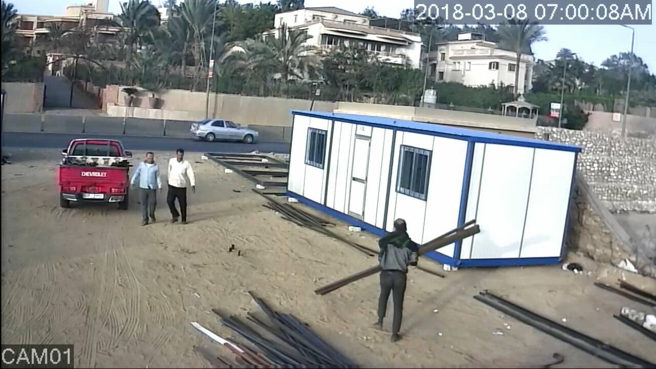 المتهم بسرقة مصنع فى ابو رواش  (1)