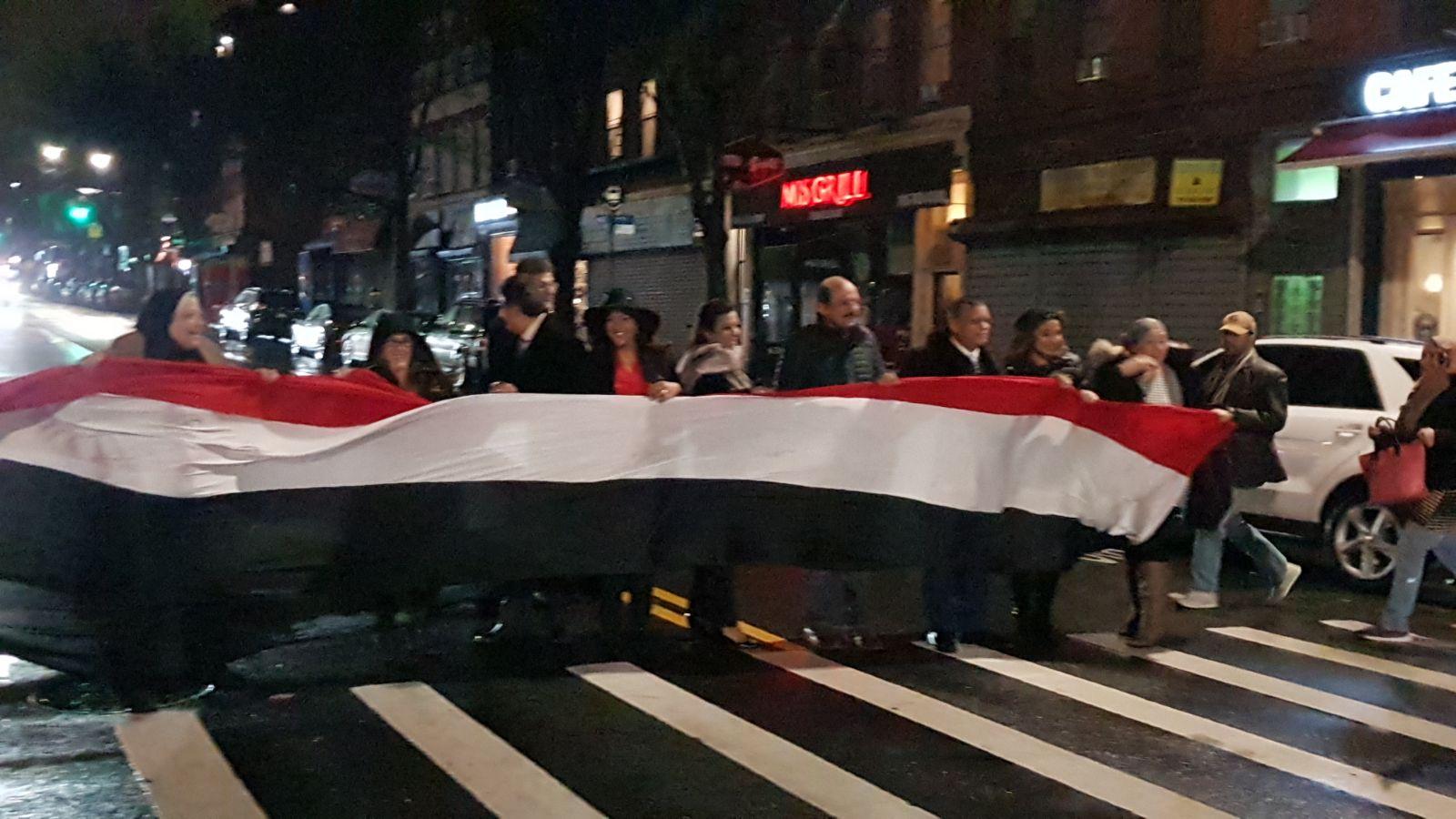 مسيرة فى شوارع نيويورك