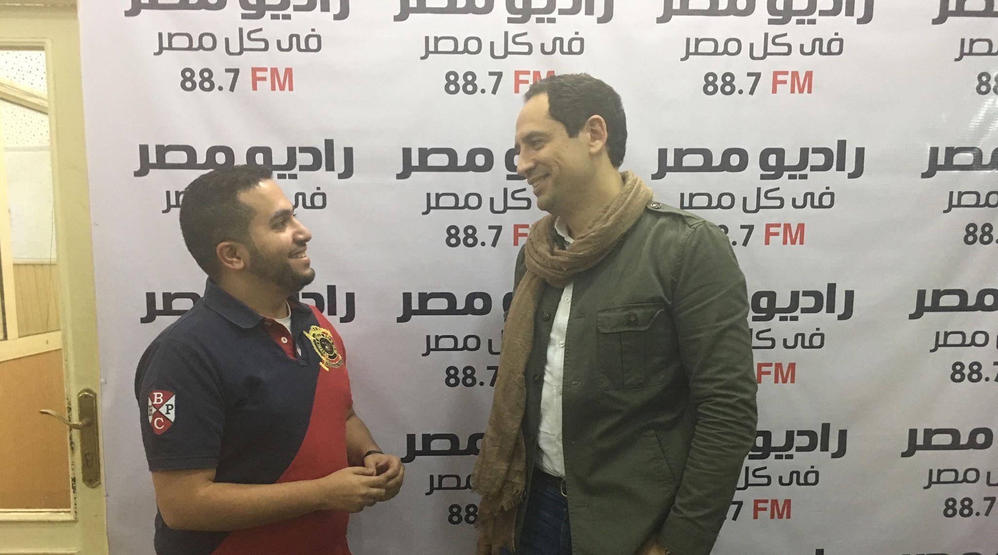 أحمد سالم مع الزميل محمود جلال