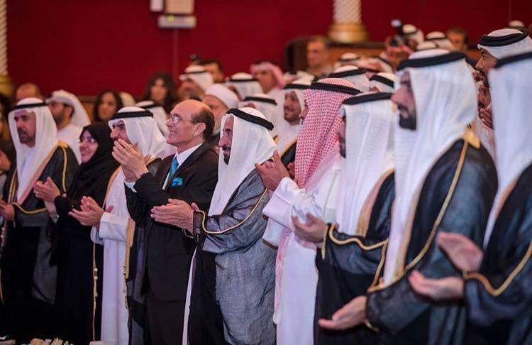 الفنان محمد صبحي مع الشيخ سلطان القاسمي حاكم الشارقة