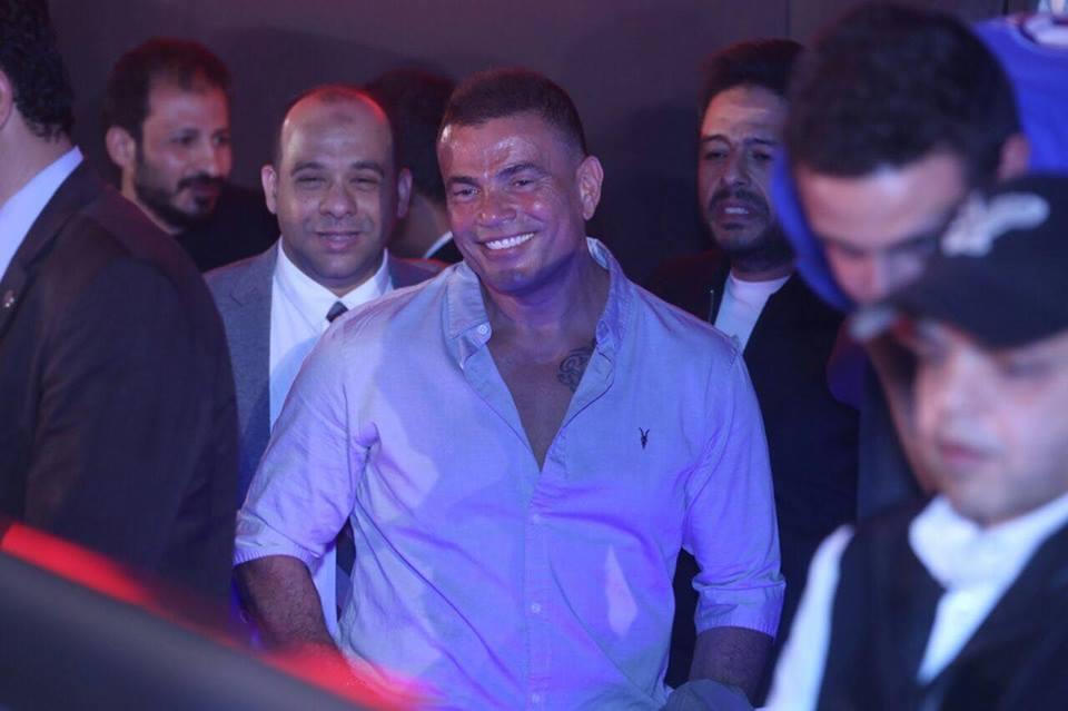 حضور الهضبة عمرو دياب