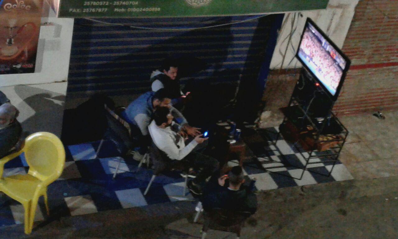 التلفاز فى الشارع