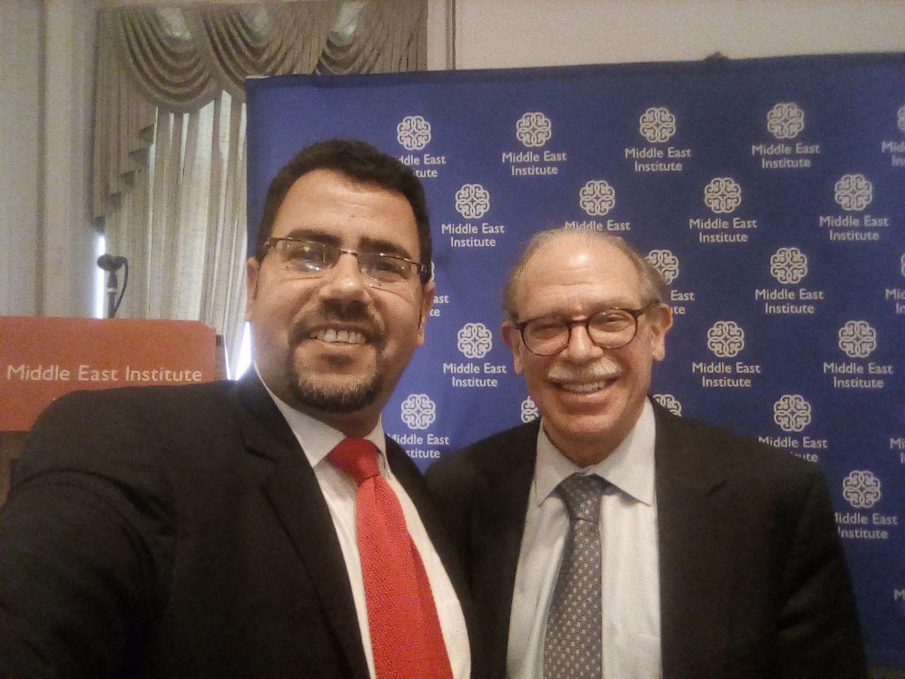 محرر  اليوم السابع مع جيرالد فيرستاين السفير الامريكى السابق باليمن