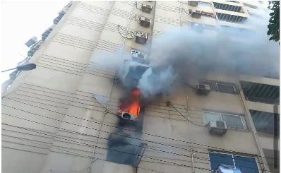 حريق بشقة سكنية