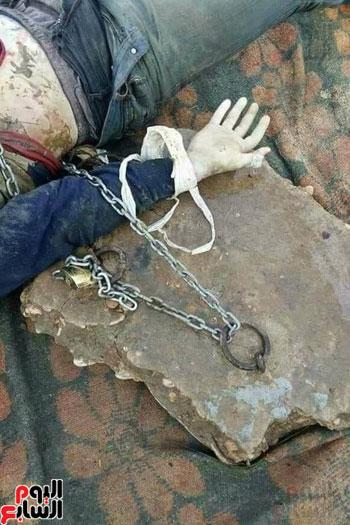 العثور على جثه ملقه فى البحر بالسويس (2)