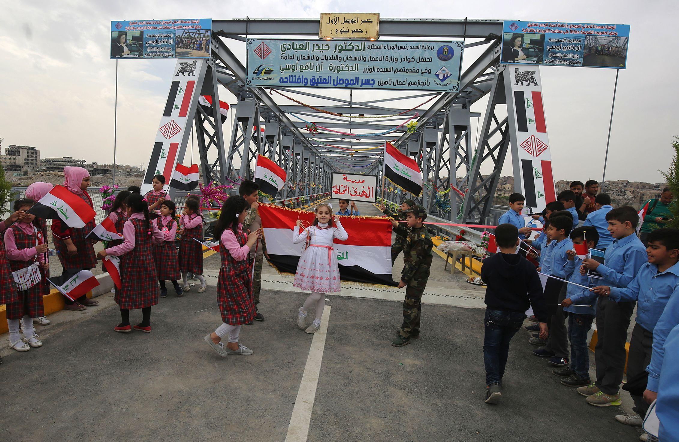 افتتاح أقدم جسر فى الموصل