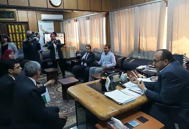 اجتماع مدير مجلس ادارة الشركة مع مسئولى البنوك