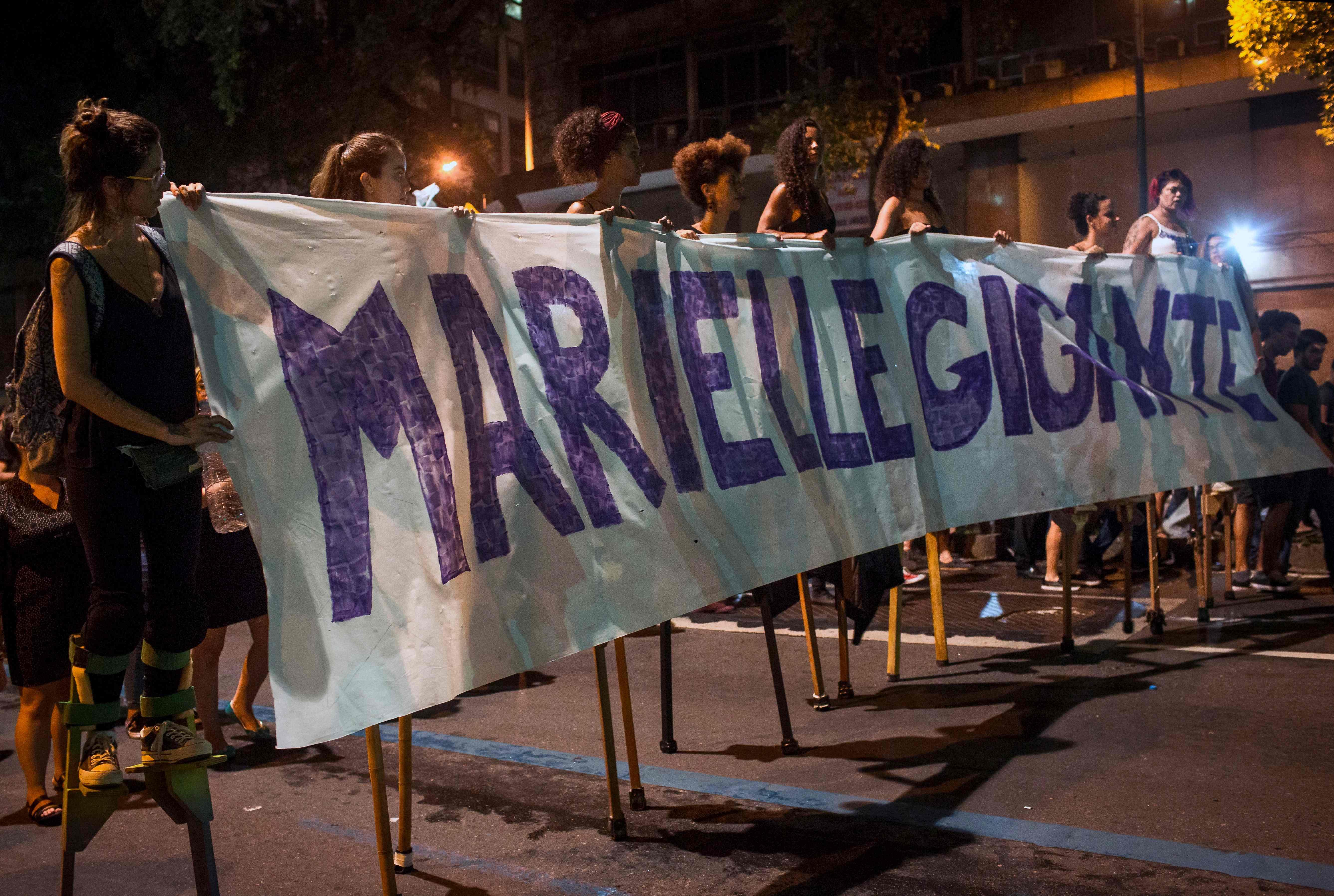 جانب من الاحتجاجات فى البرازيل