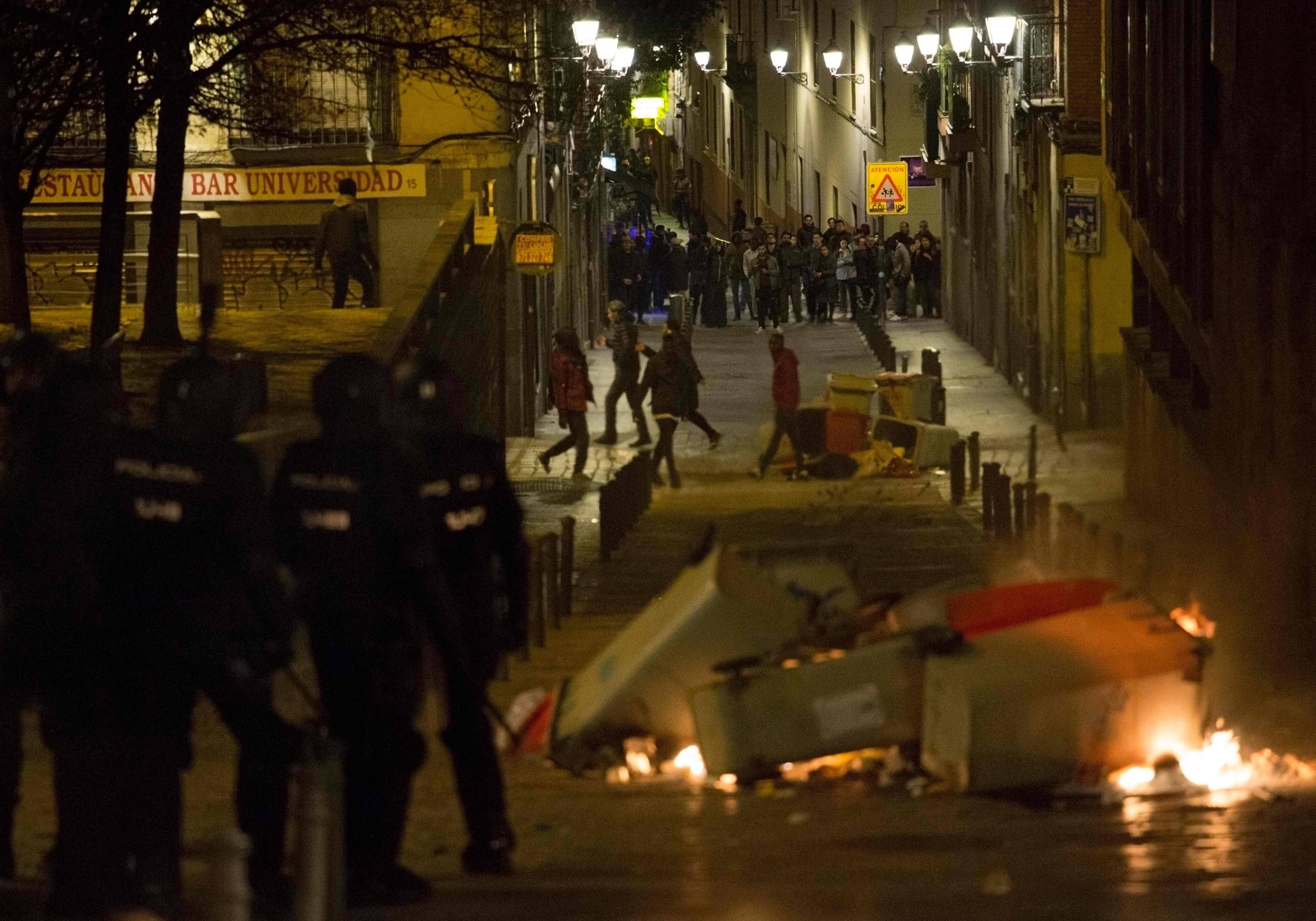 مواجهات واعمال عنف فى مدريد