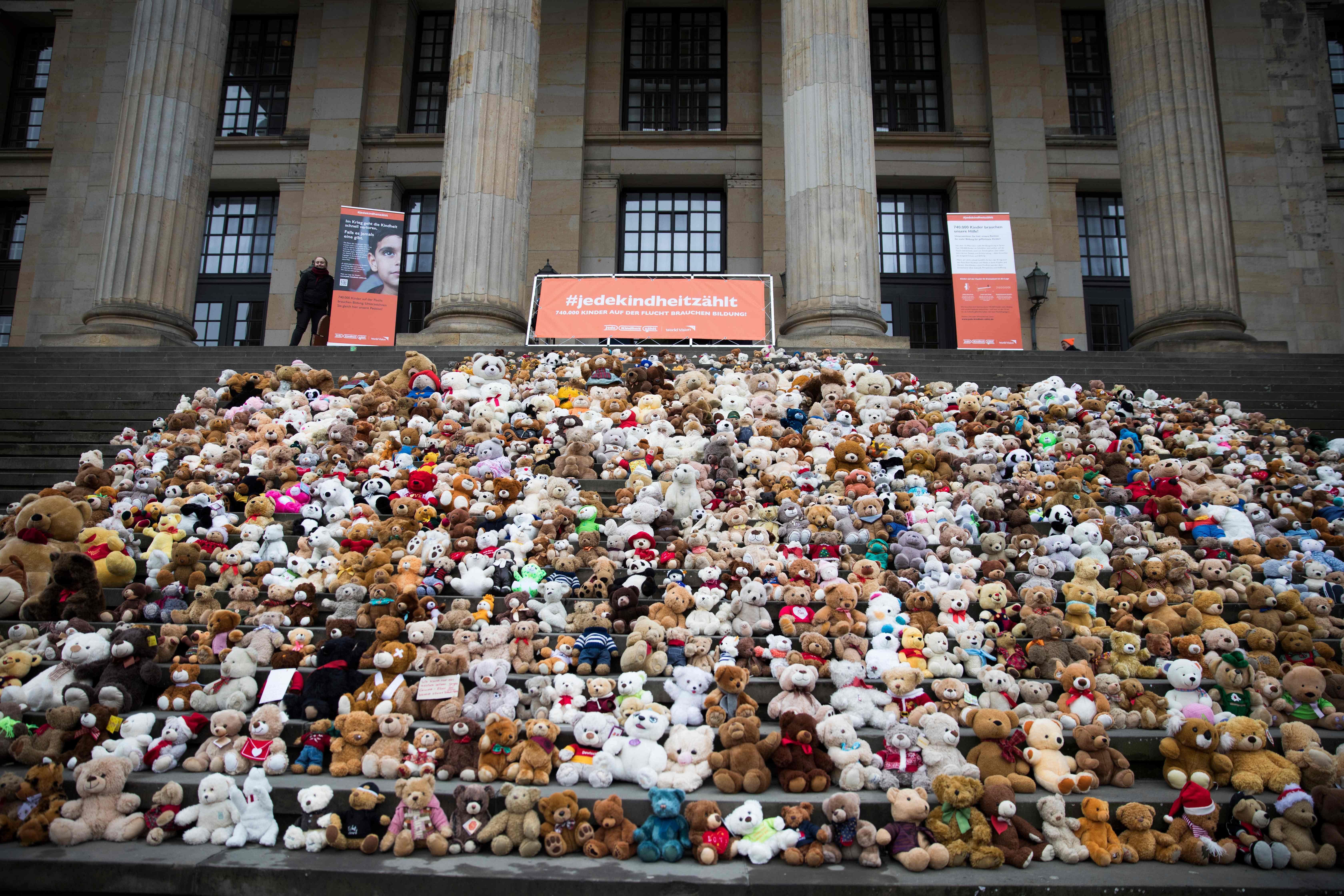 أطفال برلين يسلطون الضوء على أزمة السوريين