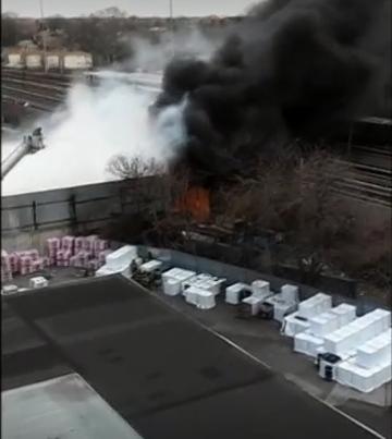 حريق مصنع المخلفات