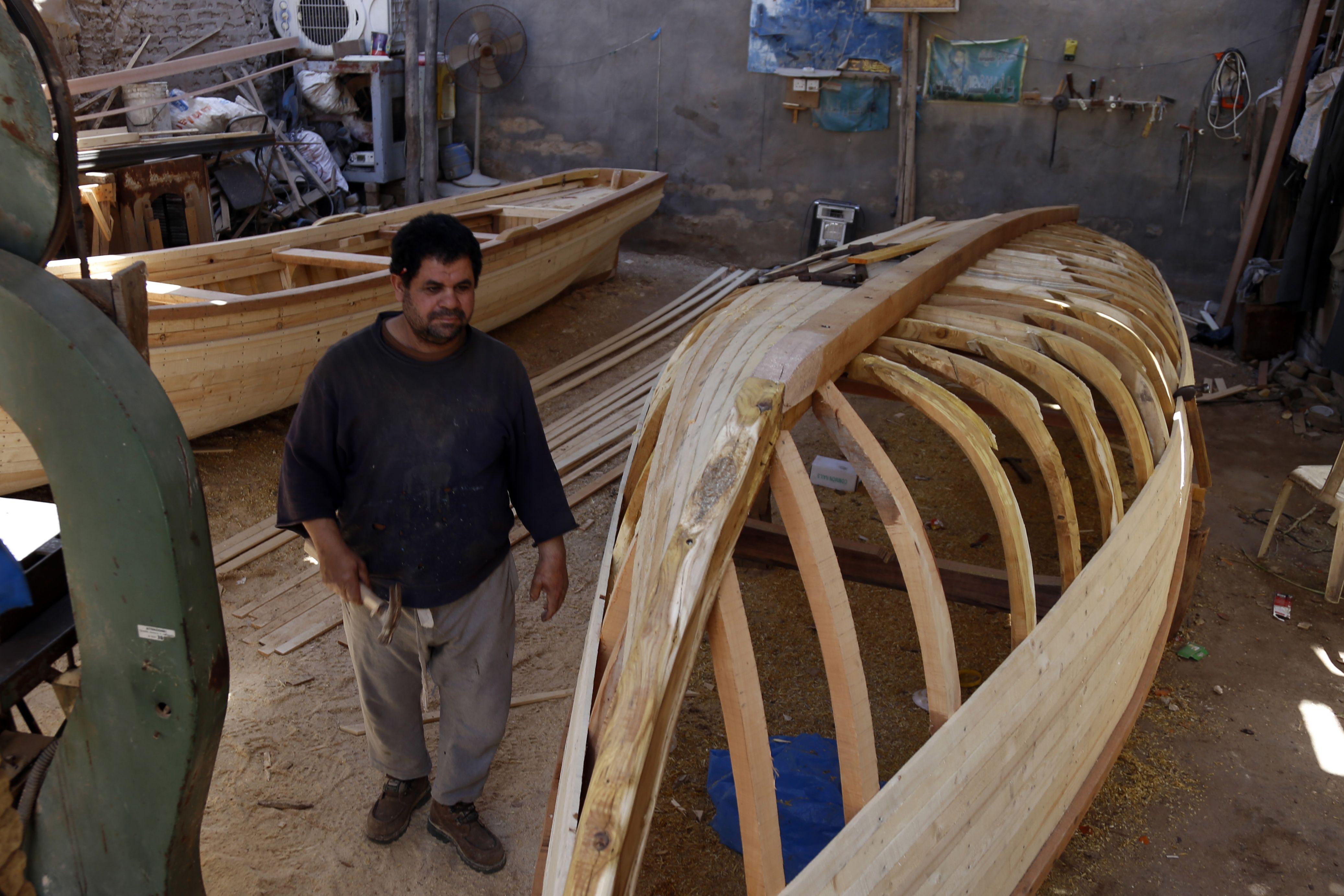 صناعة القوارب الخشب فى العراق