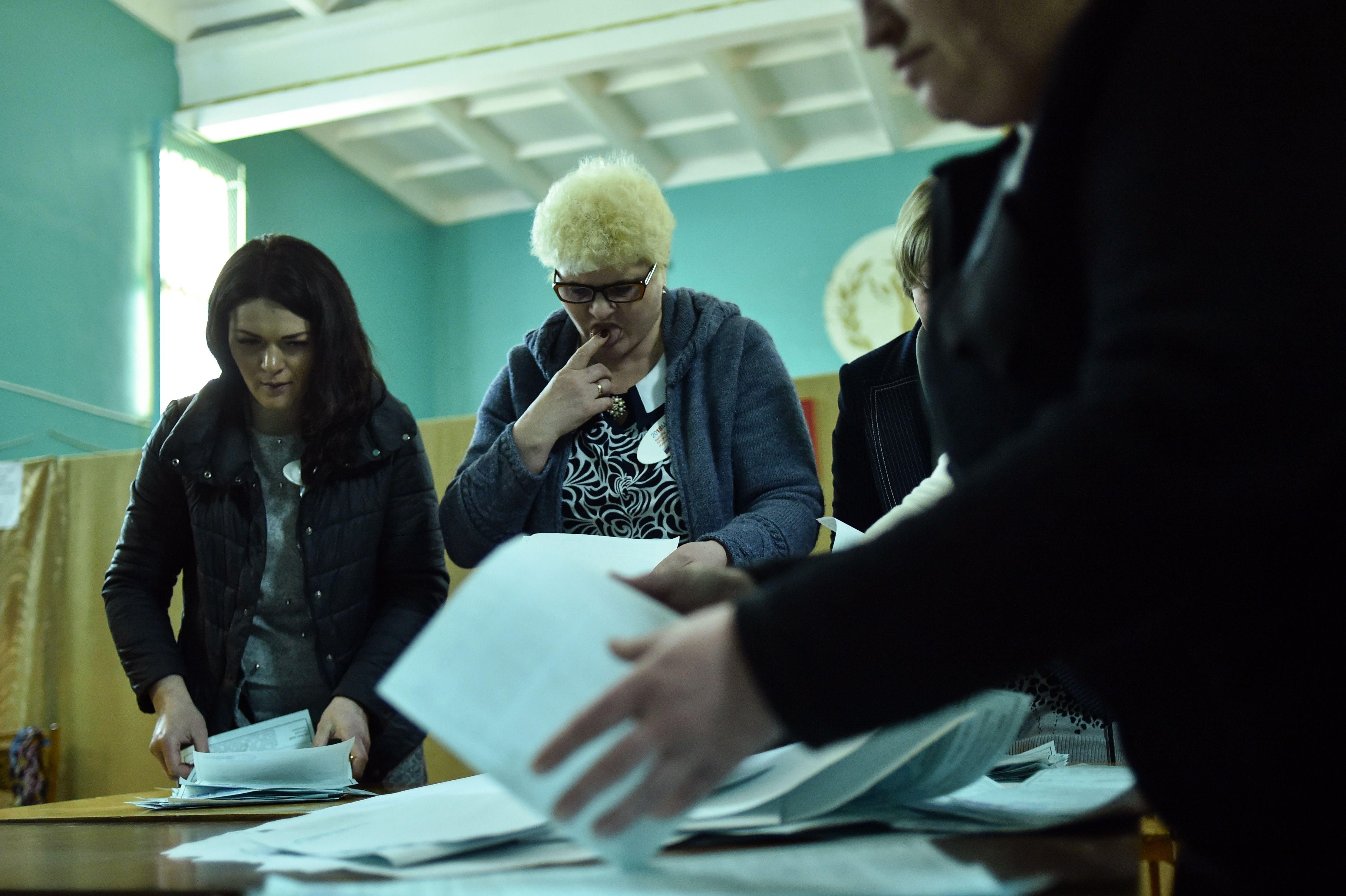 عمليات فرز الانتخابات الروسية