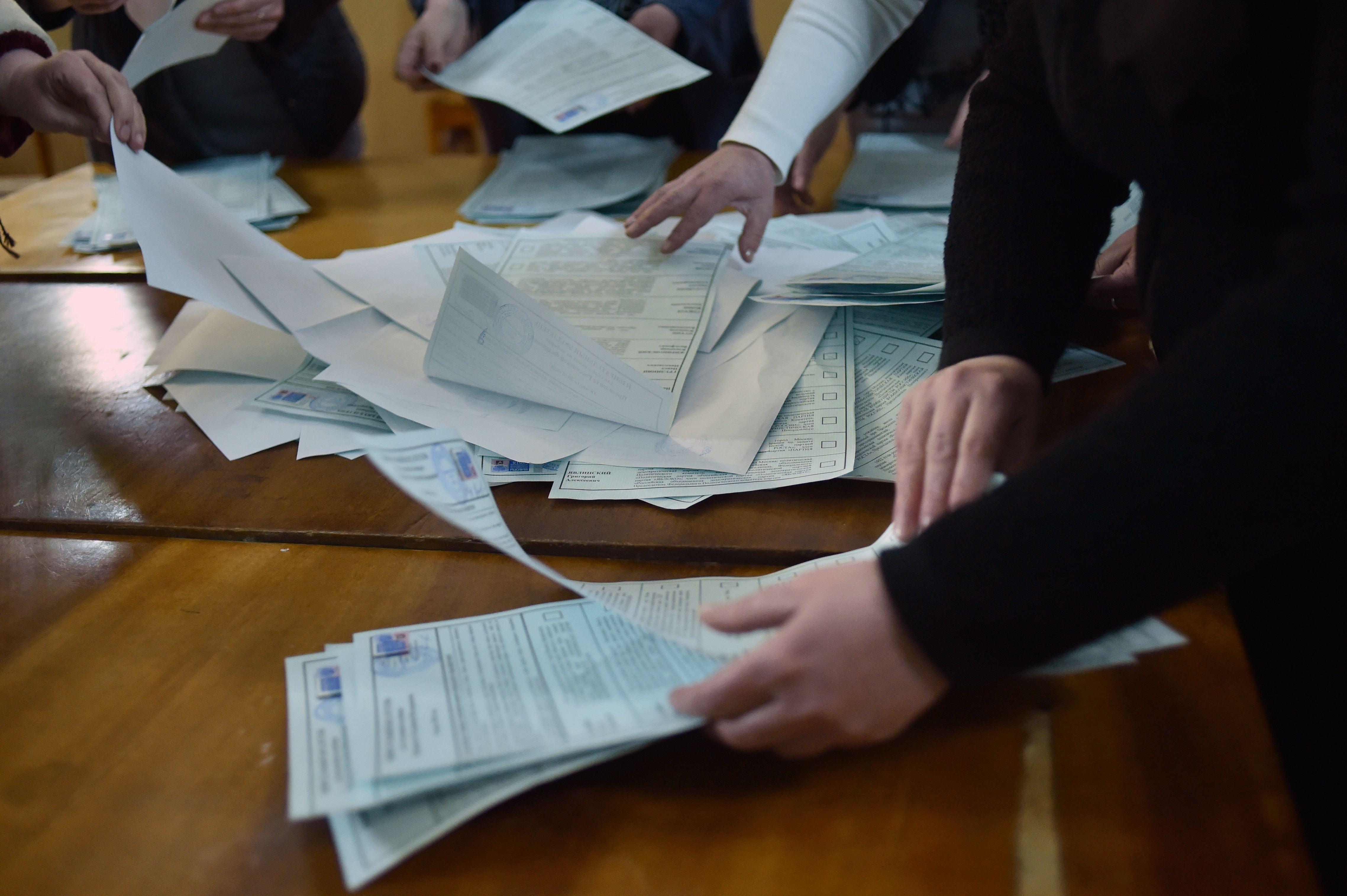 جانب من فرز الانتخابات الروسية