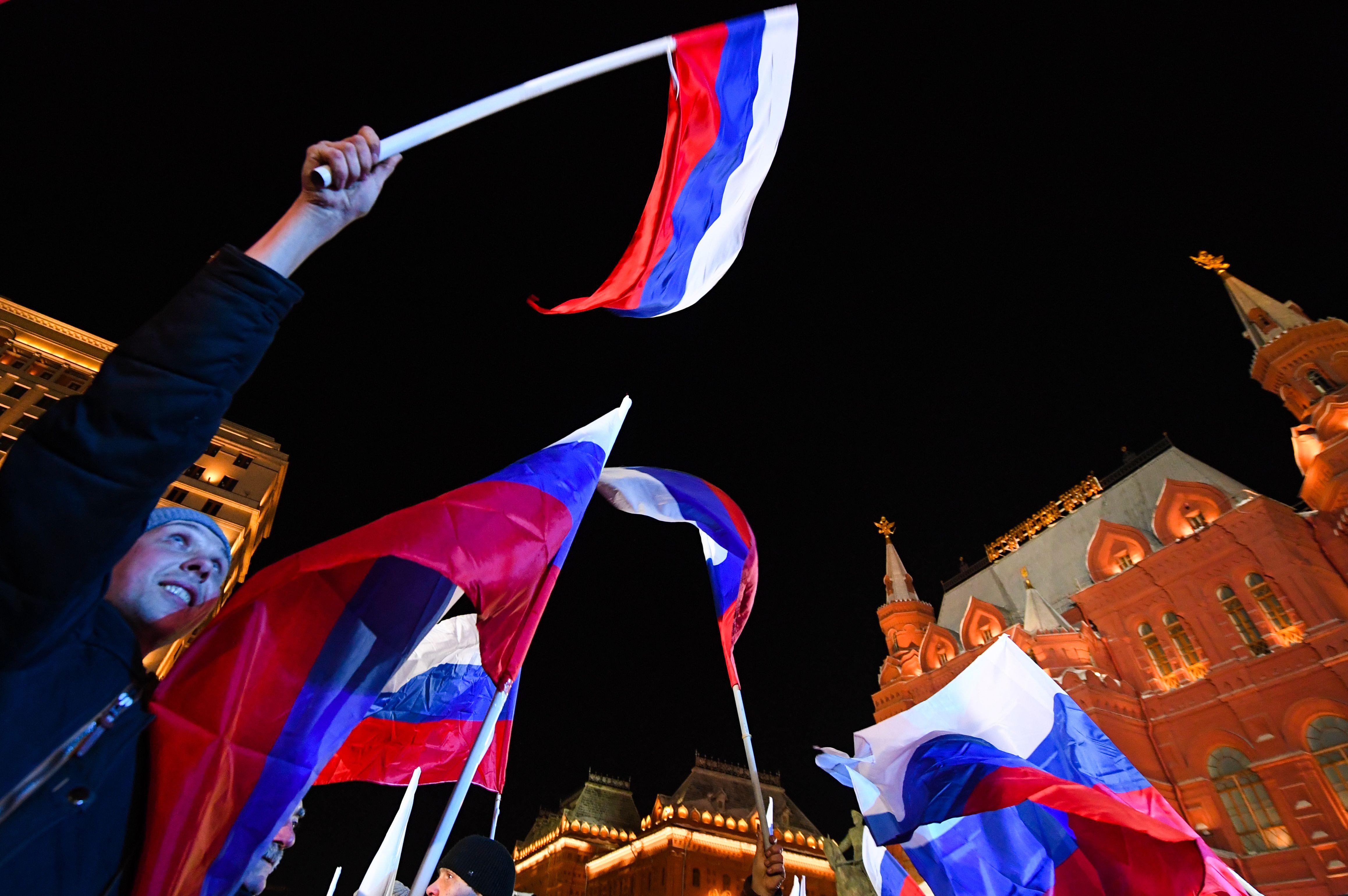 جانب من احتفالات روسيا بضم جزيرة القرم