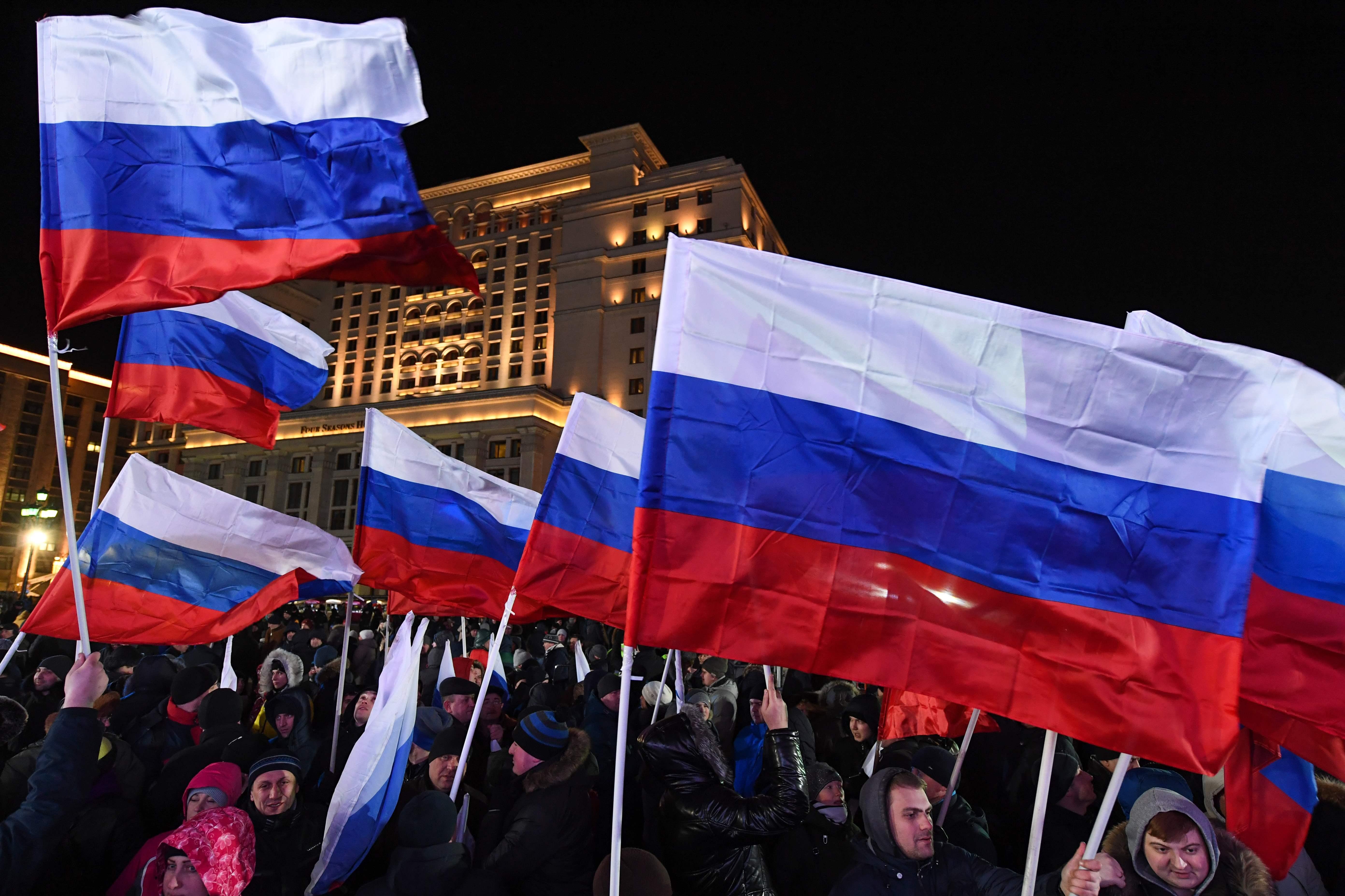 جانب من الاحتفالات الروسية