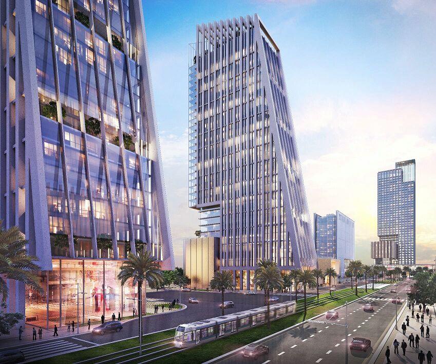 التصميمات المبدئية للأبراج التي سيتم تنفيذها بمنطقة الأعمال المركزية بالعاصمة الإدارية الجديدة (2)
