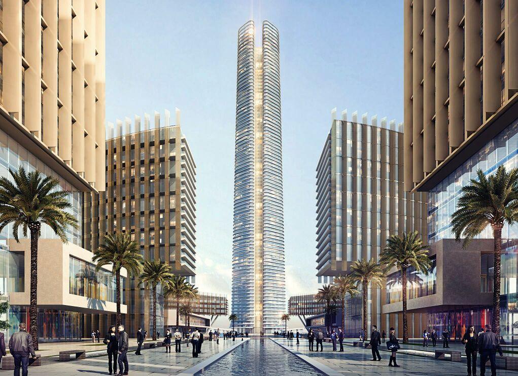 التصميمات المبدئية للأبراج التي سيتم تنفيذها بمنطقة الأعمال المركزية بالعاصمة الإدارية الجديدة (3)
