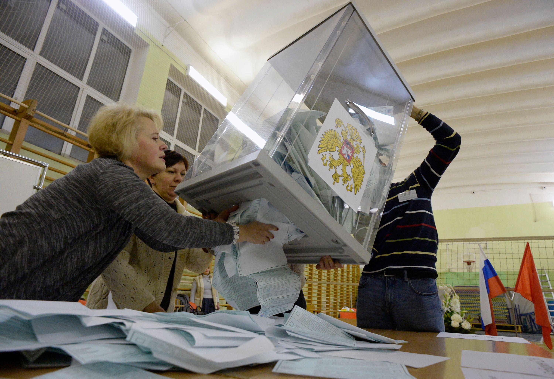 فرز الانتخابات الروسية