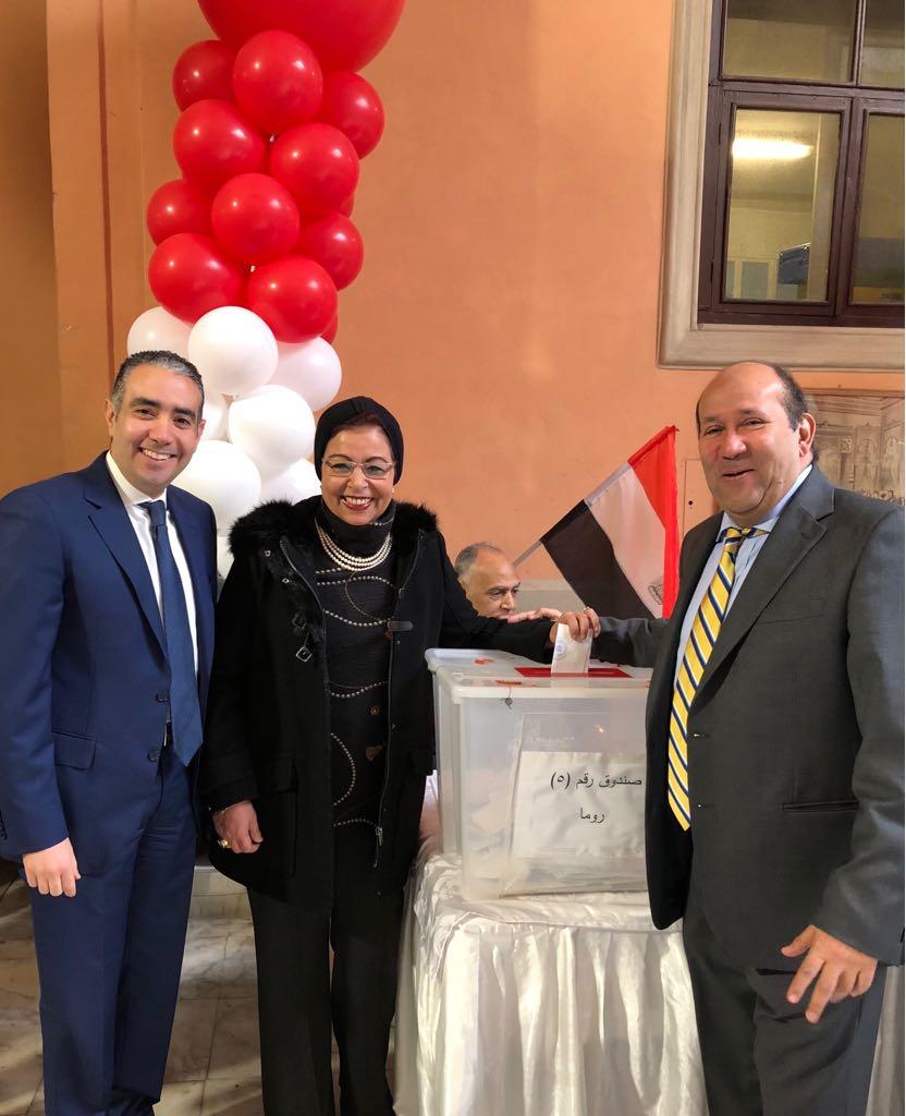 السفير هشام بدر وقنصل مصر فى روما