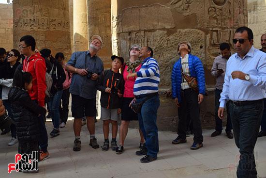 زيارات السياح لمعالم الأقصر التاريخية الفرعونية