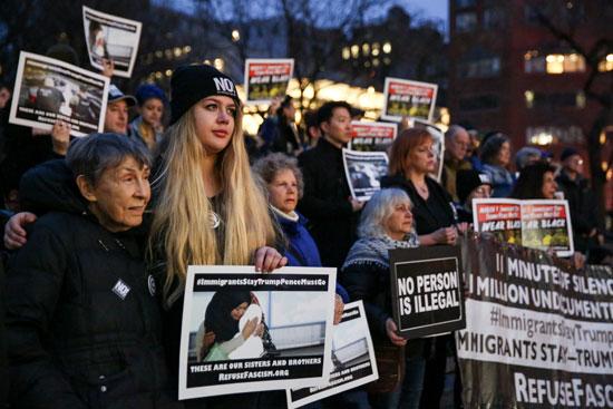 تجدد-المظاهرات-فى-نيويورك-احتجاجا-على-سياسيات-ترامب-ضد-المهاجرين