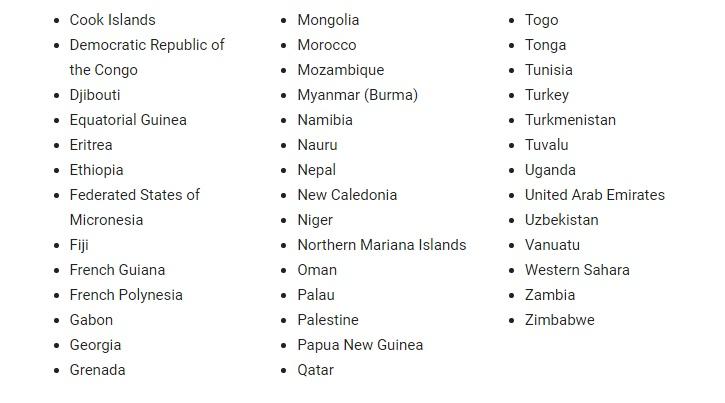 الدول التى تدعم ميزة يوتيوب2
